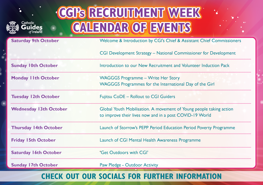 A calendar depicting all the events happening on for CGI