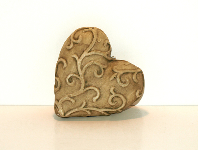 A sandstone heart