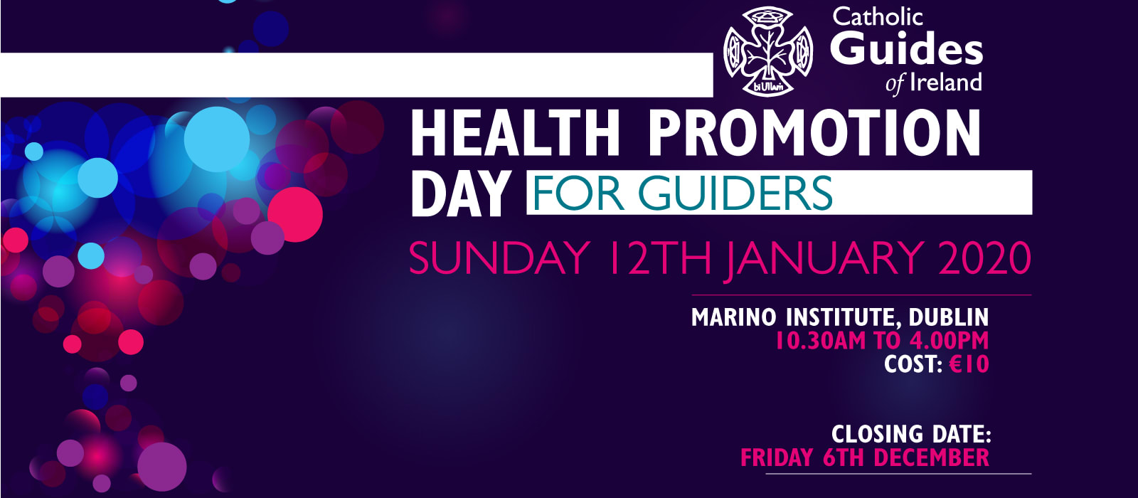 New banner image advertising Health Promotion Day for Guiders