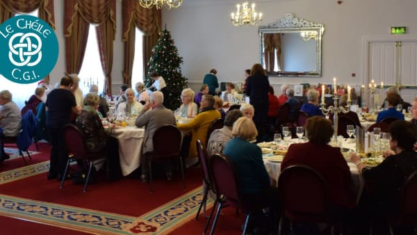A photo of the Le Cheile Christmas Dinner room